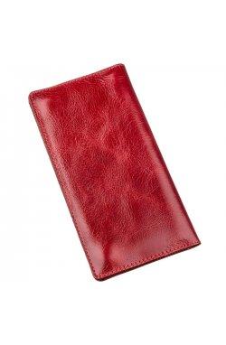 Бумажник женский вертикальный из кожи алькор SHVIGEL 16194 Красный Красный