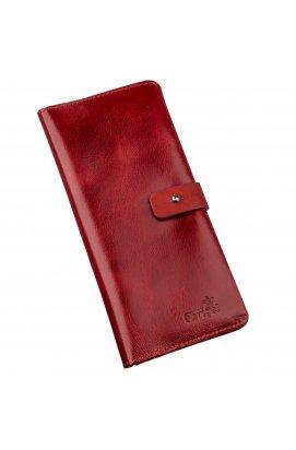 Гаманець жіночий вертикальний зі шкіри Алькор SHVIGEL 16203 Червоний Червоний