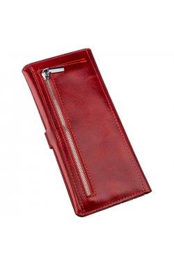 Бумажник женский вертикальный из кожи алькор SHVIGEL 16203 Красный Красный