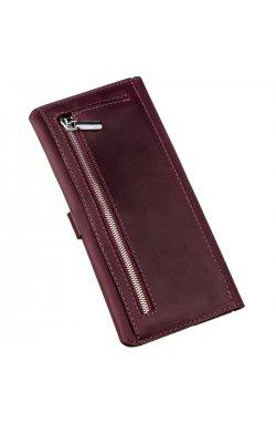 Бумажник женский из винтажной кожи SHVIGEL 16205 Бордовый