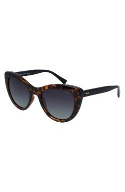 Женские солнцезащитные очки INVU B2038B - кошечки, Цвет линз - зеленый