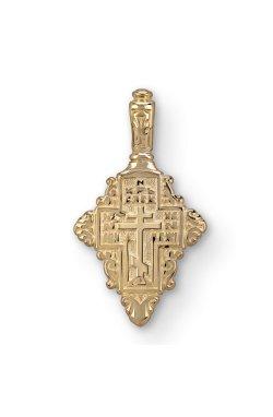 Желтое золото кулон крестик из желтого золота 585-й пробы (310 92)