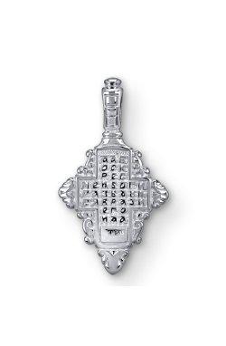 Белое золото кулон крестик из белого золота 585-й пробы (310 94)
