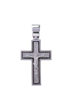 Крест мужской белое золото из белого золота 585-й пробы (310 74)