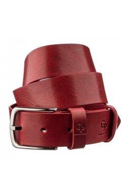 Ремень женский кожаный GRANDE PELLE 11262 Красный Красный