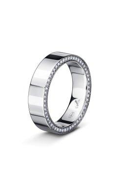 Обручальное кольцо из серебра нежность 15 из родированного серебра 925-й пробы с куб. циркониями (12 5 2)