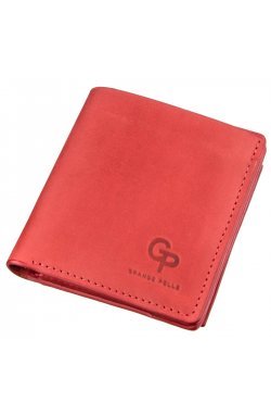 Яркое кожаное портмоне женское с накладной монетницей GRANDE PELLE 11224 Красное