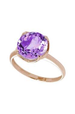 Перстень из красного золота с аметистом .5 из красного золота 585-й пробы (1406473)