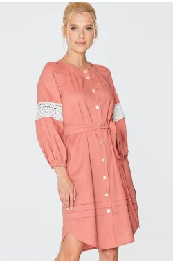 Платье 973-c02 - Теракотовый