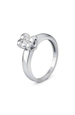 Золотое кольцо с бриллиантом 0.27 ct 15 из белого золота 585-й пробы (1500604)