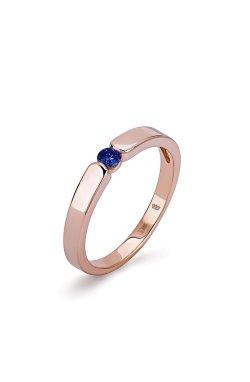 Золотое кольцо гурмэ с сапфиром из красного золота 585-й пробы (150309301)