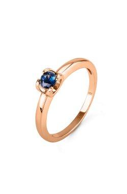 Кольцо dream с синим сапфиром розовое золото из красного золота 585-й пробы (150643303)