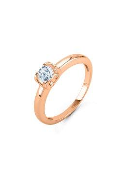 Кольцо dream с белым сапфиром розовое золото из красного золота 585-й пробы (150643302)