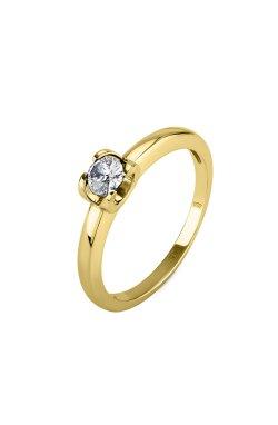 Кольцо dream с бриллиантом желтое золото из желтого золота 585-й пробы с бриллиантом (150643 1)