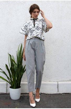Блуза 988-c01 - Молочный/Принт