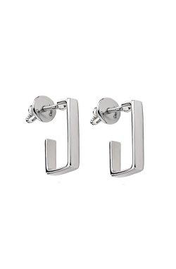 Серебряные серьги красота геометрии из родированного серебра 925-й пробы ( )