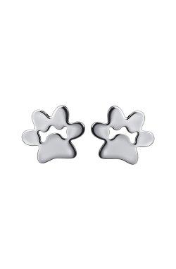 Серебряные серьги лапки из родированного серебра 925-й пробы ( 99 )