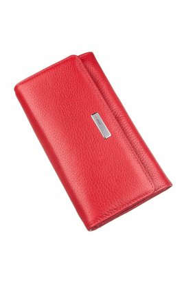 Гаманець жіночий на кнопці шкіряний KARYA 17402 Червоний