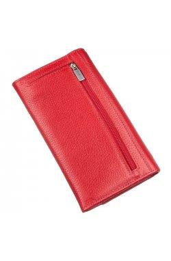 Кошелек женский на кнопке кожаный KARYA 17402 Красный