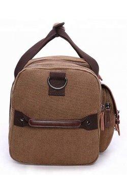 Дорожная сумка текстильная с карманом Vintage 20193