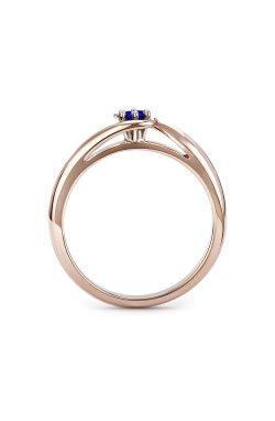 Золотое кольцо с сапфиром орхидея из красного золота 585-й пробы (151034301)