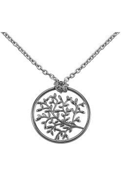 Золотой кулон дерево жизни из белого золота 585-й пробы (3113284)