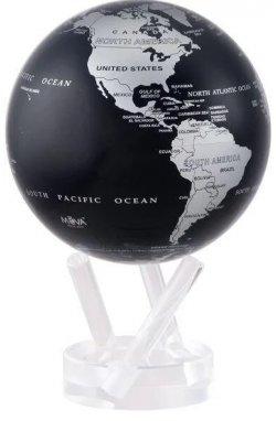 """Гиро-глобус Solar Globe Mova """"Политическая карта"""" 21,6 см серебристо-черный (MG-85-SBE) - wws-7840"""