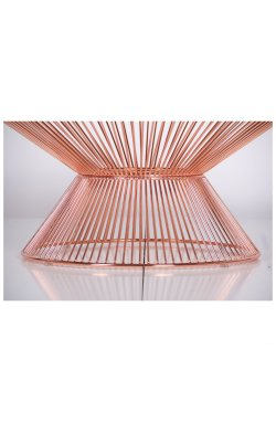 Стол Owi, rose gold, glass top - AMF - 545684