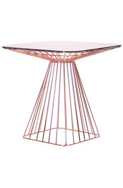 Стол Tern, rose gold, glass top - AMF - 545687