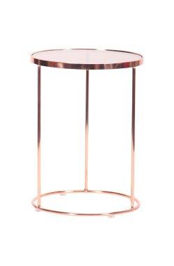 Стол журнальный Kalibri, rose gold, glass top - AMF - 545685