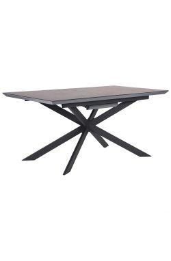 Стол обеденный раскладной Baltimore черный/стекло гранит - AMF - 545802