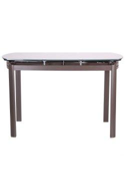 Стол обеденный раскладной Кассандра серый/стекло платина - AMF - 521254