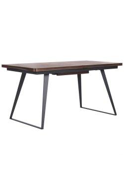 Стол обеденный раскладной Rochester черный/шпон орех антик - AMF - 545852