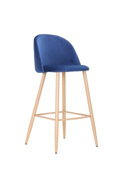 Барный стул Bellini бук/blue velvet - AMF - 545881