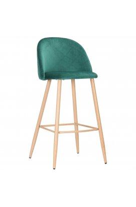 Барный стул Bellini бук/green velvet - AMF - 545882