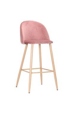 Барный стул Bellini бук/pink velvet - AMF - 545884