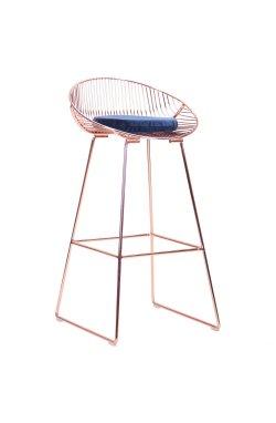 Барный стул Chik, rose gold, royal blue - AMF - 545681