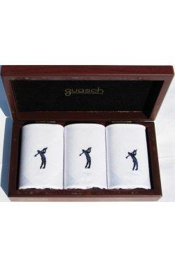 Мужские хлопковые носовые платки Guasch Art box 50 GOLF