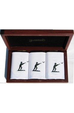 Мужские хлопковые носовые платки Guasch Art box 50 CAZ