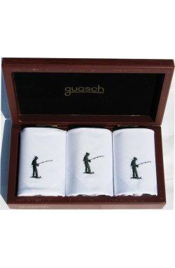 Мужские хлопковые носовые платки Guasch Art box 50 PESCA