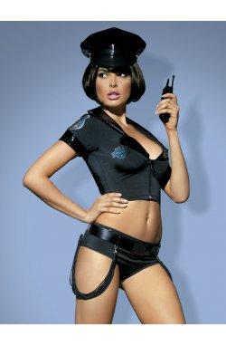 Police set костюм поліцейської чорний Obsessive (S/M)
