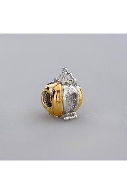 Серебряный подвес тыковка из родированного серебра 925-й пробы (31 46 )