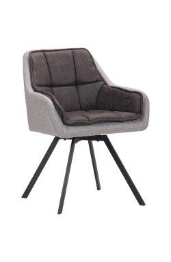 Кресло поворотное Virginia черный/cowboy базальт браун/меланж силвер - AMF - 545793