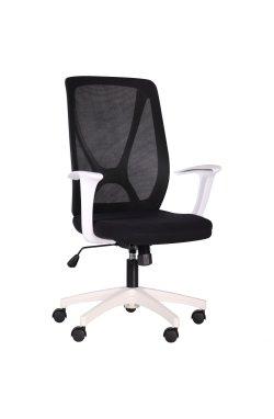 Кресло Nickel White сиденье Сидней 07/спинка Сетка SL-00 черная - AMF - 297164