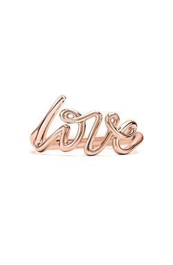 Золотое кольцо love 13 из красного золота 585-й пробы (1114893)