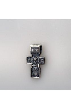 Серебряный кулон крест вера из родированного серебра 925-й пробы (312 0 )