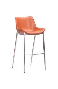 Барный стул Blanc caramel leather - AMF - 545657