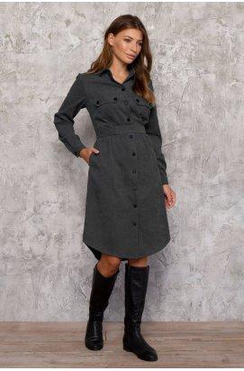 Платье - Рубашка 3027-c03 - Серый