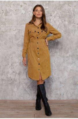 Платье - Рубашка 3027-c04 - Горчица