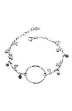Женский браслет с подвесками серебро из родированного серебра 925-й пробы (512 8 )